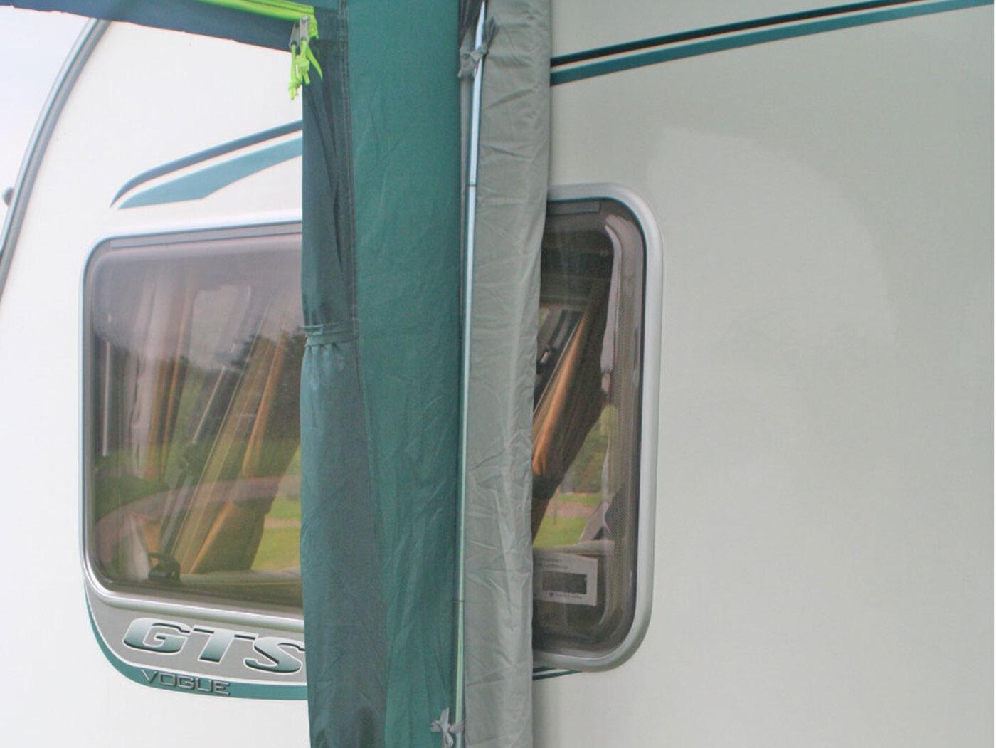 how to set up caravan awning
