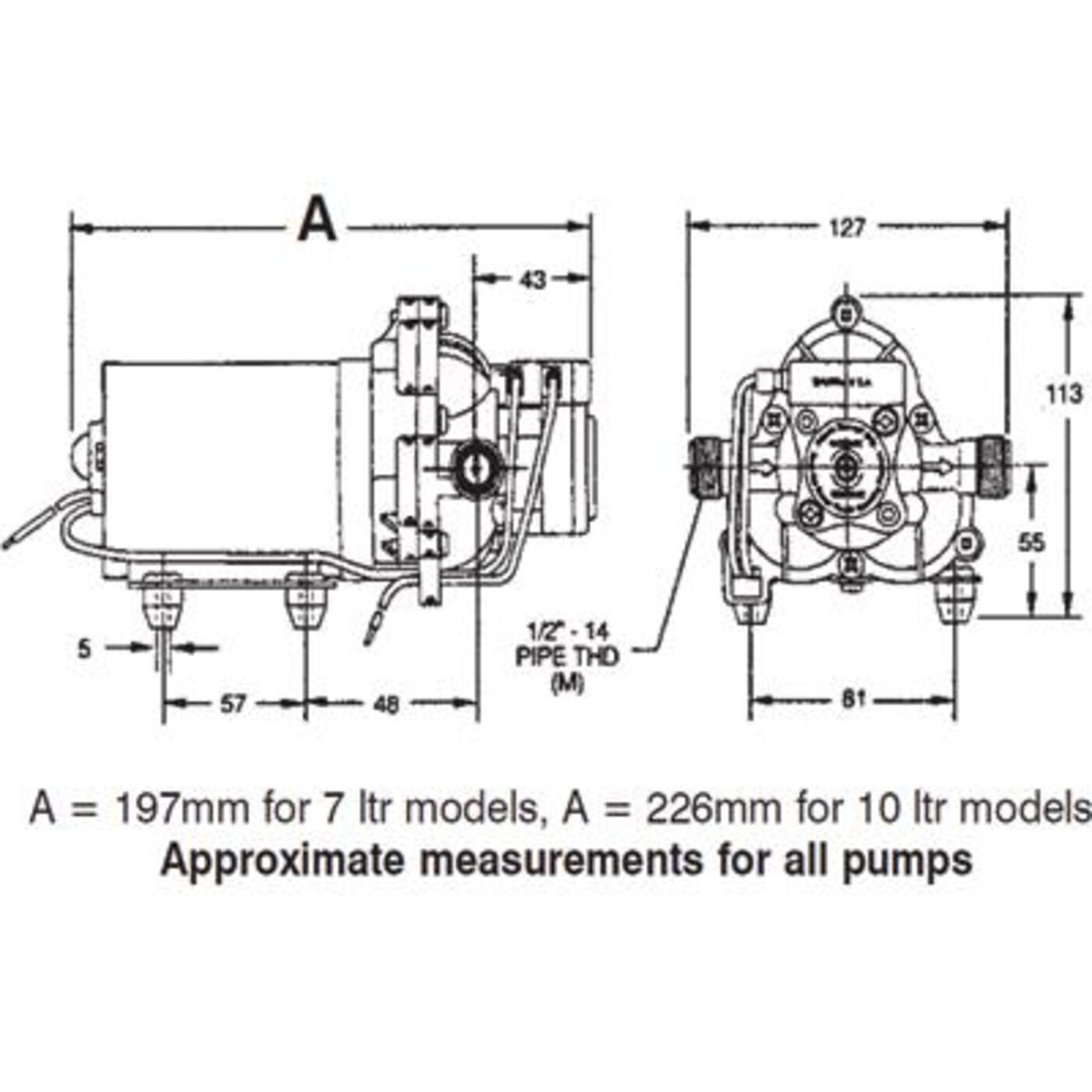 Shurflo Trail King 12v Pressure Pump