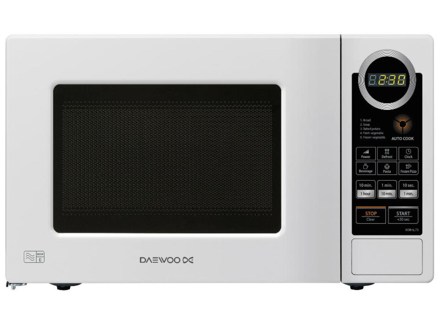 Daewoo 20l Touch Control Microwave Oven 700 Watt