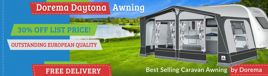 The Dorema Daytona Caravan Awning has been voted, the UK's most popular Caravan Awning by Dorema Dealers