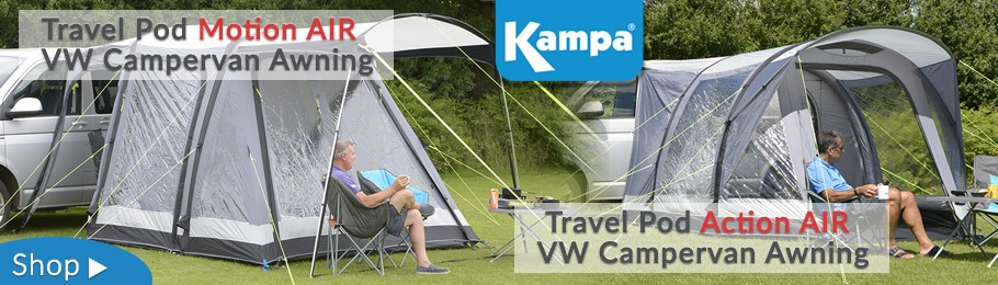 Kampa Travel Pod AIR Awnings for VW Camper Vans