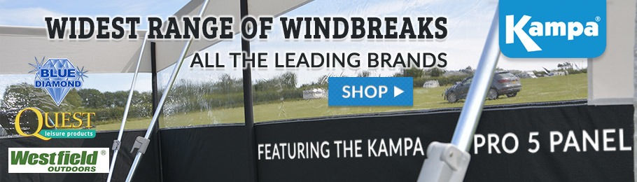 Widest range of Windbreaks for camping and caravanning in-store and online - kampa Pro 5 Panel