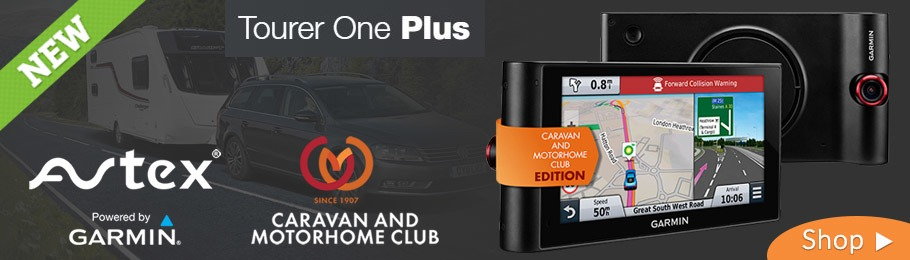 The Avtex Tourer One Plus Caravan and Motorhome Club Edition Satellite Navigation System with integrated dash-cam