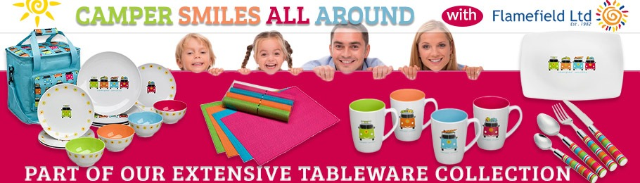 Camper Smiles Tableware Range