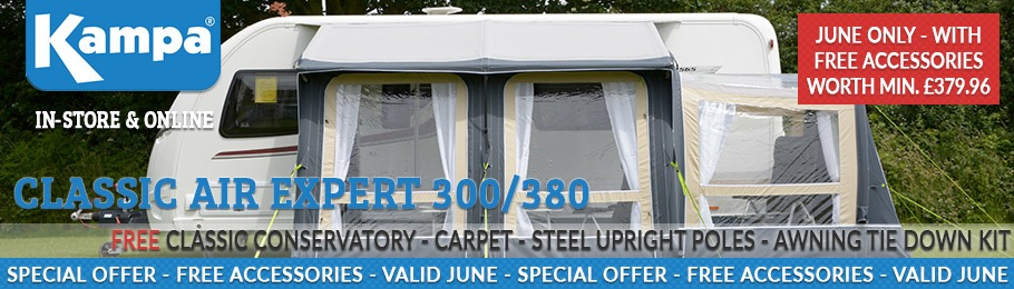 Kampa Classic Free Accessories Special Offer - Valid throughout June