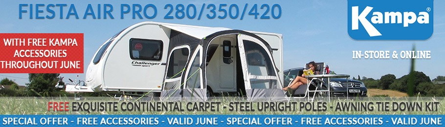 Kampa Fiesta AIR Pro Free Accessories Special Offer - Valid throughout June