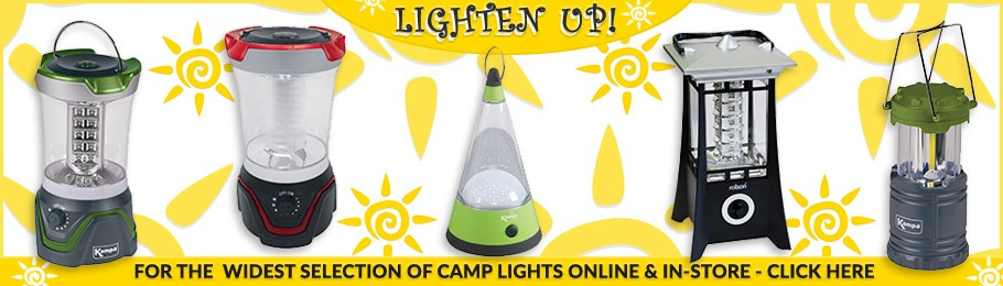 Range of Camping Lights
