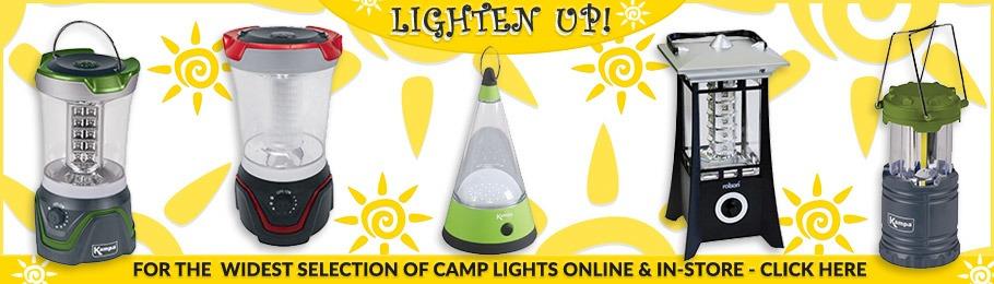 Range of Camping Lights