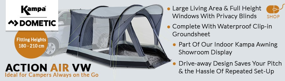 2020 Kampa Dometic Action AIR VW drive-away motorhome awning