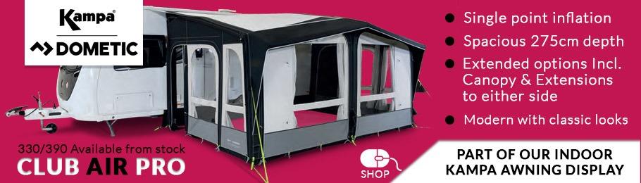 2020 Kampa Dometic Club AIR Pro Caravan Awning range