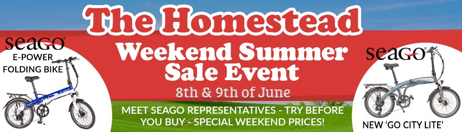 Seago Folding Bike Offer at the Homestead Summer Sale