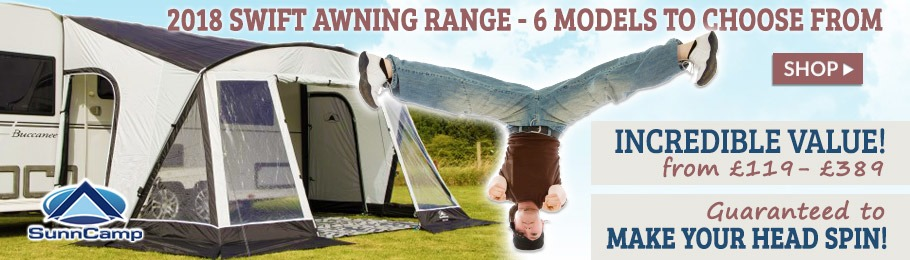 The SunnCamp Swift Caravan Awning Range offers exceptional value for money