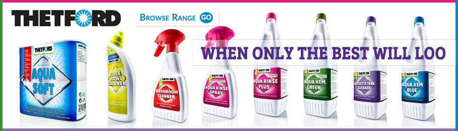 Selection of Thetford chemicals and cleaners