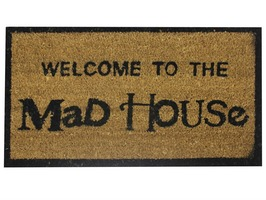 "JVL ""Mad House"" Coir Door Mat 40 x 70cm"