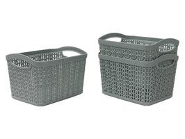 JVL Set of 3 1.5ltr Loop Storage Basket