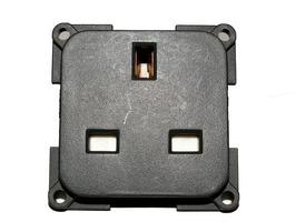 CBE 230v 3 pin 13A Mains Socket with Back Box - Grey