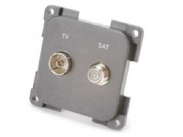 CBE TV & Satellite Socket - Grey