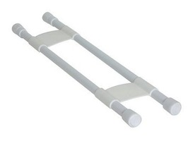 Camco Double White Refrigerator Bar