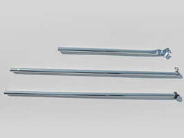 Umefa Storm Pole Steel with Flanged Foot and Pole Clamp
