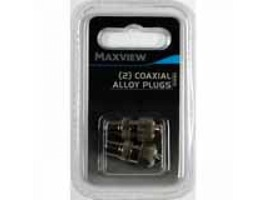 Maxview Coaxial Alloy Plugs set of 2