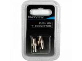 Maxview Push On F Connector - Pack 2