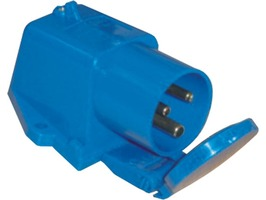 Mains Surface Mounted Inlet Socket with Flap