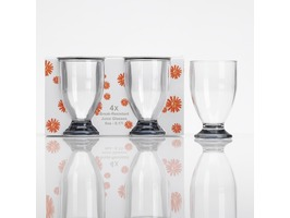 Flamefield Acrylic Juice Glass Set - Pack 4