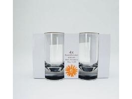 Flamefield Acrylic Slim Jim Tumbler  4 Pack
