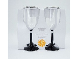 Flamefield Acrylic Stemmed Wine Goblet - 4 Pack
