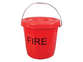 Kampa 15 Litre Red Fire Bucket with Lid
