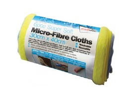 Micro-Fibre Cloths by Streetwize - Pack 6