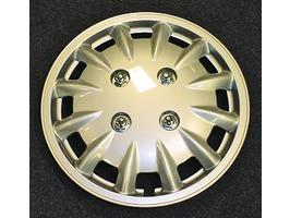 "Milenco set of 2 14"" Silver Wheel Trims"