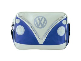 VW Campervan Bus Landscape Style Shoulder Bag Blue