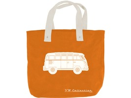 VW Campervan Canvas Shopping Bag Orange