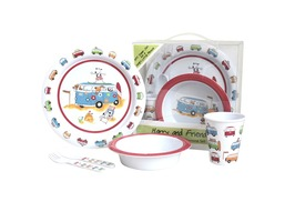 Flamefield Harry & Friends Childrens 5pcs Melamine Set