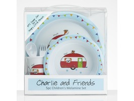 Flamefield Charlie & Friends Children's Melamine Set