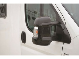 Milenco Short Arm Mirror Protectors Black - Set of 2