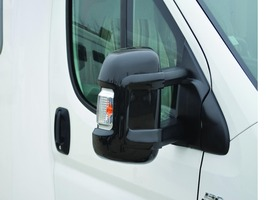 Milenco Long Arm Mirror Protectors Black - Set  2
