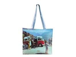 VW Campervan Scenery PVC Shopping Bag