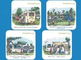 Caravan & Motorhome Coasters Set 4