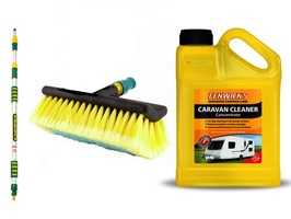 Fenwicks Caravan Cleaner 1 Litre & 2 Metre Wash Brush Package