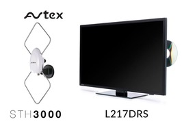 Avtex 21.5 inch TV Combo & STH 3000 Antenna Package