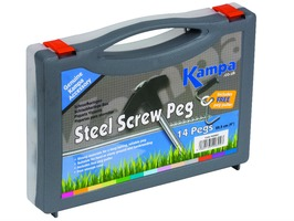 Kampa Steel Screw Peg 22.5cm (Pack 14)