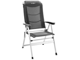 Brunner Kerry Slim Aluminium High Back Recliner Chair Shadow Black