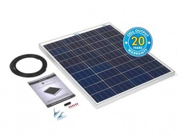 100 Watt Solar Panel Kit with 10Ah Charge Controller