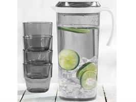 Flamefield 1.5 Litre Pitcher Set  with 4 Stacking Tumblers