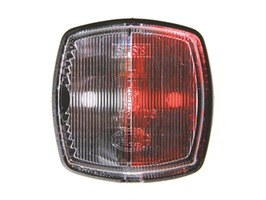 Hella 883 Side Marker Red/Clear Lamp