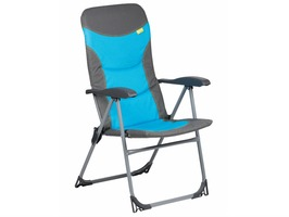 Kampa Skipper High Back Padded Reclining Chair Blue