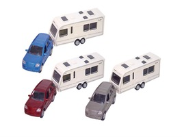 Teamsterz Die Cast Car & Caravan Toy