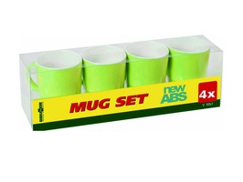 Brunner Mug Set of 4 Lime Green with Anti-Slip Base